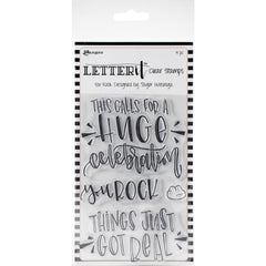 Ranger Letter It Clear Stamp Set 4in x 6in  You Rock