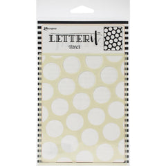 Ranger Letter It Background Stencil 4.75in x 6in  Polka Dotting