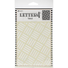 Ranger Letter It Background Stencil 4.75in x 6in  Rocking Stripes
