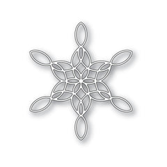 Poppystamps Die - Stained Glass Snowflake