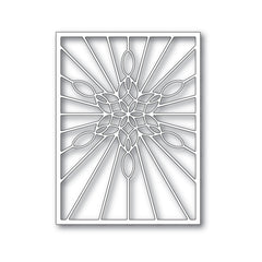 Poppystamps Die - Stained Glass Snowflake Window