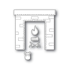 Poppystamps Die - Whittle Fireplace