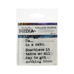 "Dina Wakley - Media Collage Word Pack 3""X3"" 20/Pkg #3"
