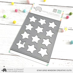 Mama Elephant - Creative Cuts Dies - Star Grid Window
