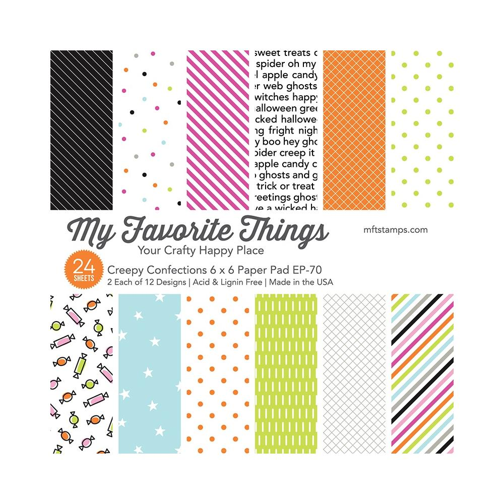 My Favorite Things Single-Sided Paper Pad 6in x 6in 24 pack - Creepy Confections