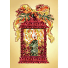 Mill Hill Counted Cross Stitch Kit 4in x 5.25in - Christmas Lantern (14 Count)