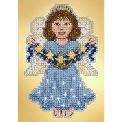 Blooming Blue DIY Chart Counted Cross Stitch Patterns Needlework