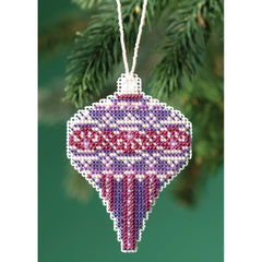 Mill Hill Counted Cross Stitch Ornament Kit 2.5in x 3.5in  - Amethyst Pearl (14 count)