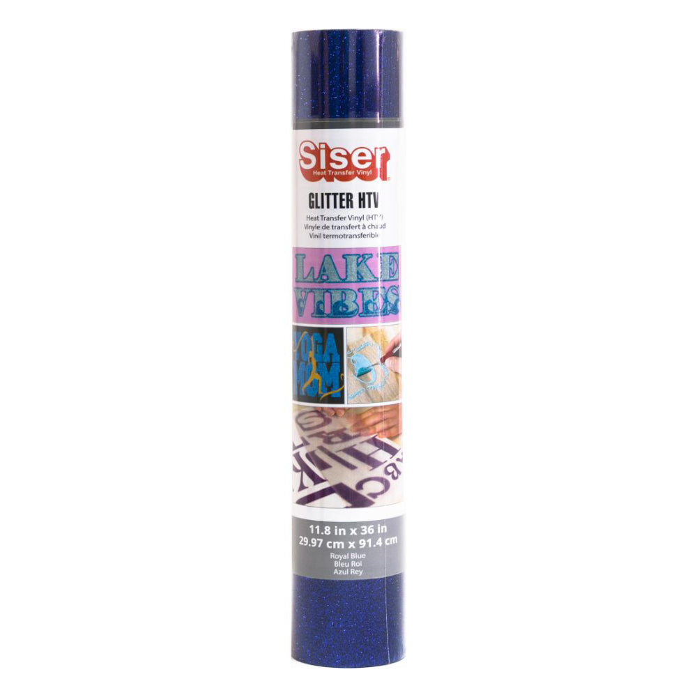 Siser - Glitter HTV Vinyl - 11.8 inchX36 inch Roll - Royal Blue