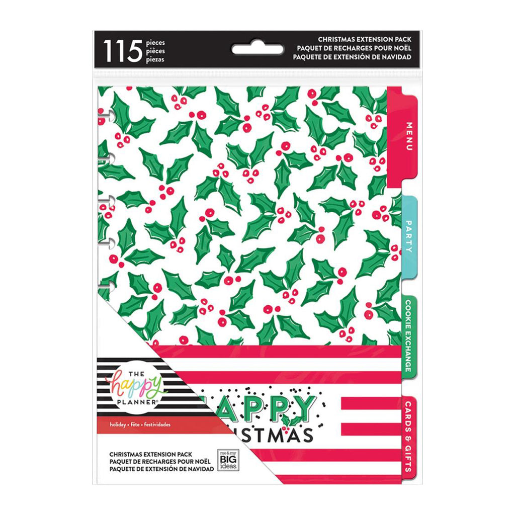 Me & My Big Ideas - Happy Planner Holiday Planner Extension Pack - Christmas, 115 pieces