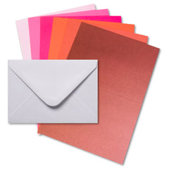 Mpress - Card and Envelope Pack 5x7in, 300GSM - Berry Shades