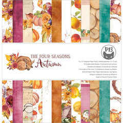 P13 Double-Sided Paper Pad 12in X  12in 12 pack  - The Four Seasons-Autumn