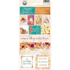 P13 The Four Seasons-Autumn Cardstock Stickers 4in x 9in  - #02