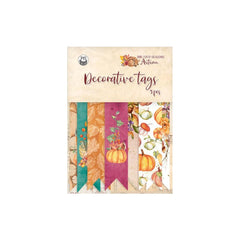 P13 The Four Seasons-Autumn Double-Sided Cardstock Tags 9 pack - #03