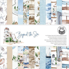 P13 Double-Sided Paper Pad 6in X  6in 24 pack  - Beyond The Sea