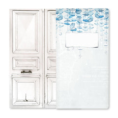 P13 Beyond The Sea Travel Journal 4.25in x 8.25in  - 10 White Cards