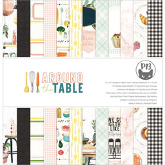 P13 Double-Sided Paper Pad 12in x 12in  12 pack - Around The Table