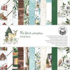 P13 Double-Sided Paper Pad 6in X  6in 24 pack  - The Four Seasons-Winter