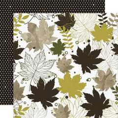 Kaisercraft Fallen Leaves Double-Sided Cardstock 12in x 12in - Crunchy Leaves