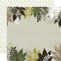 Kaisercraft Fallen Leaves Double-Sided Cardstock 12in x 12in - Morning Dew