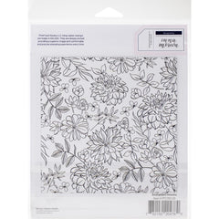 Pinkfresh Studio Cling Rubber Stamp Set 6in x 6in - Enchanted Blooms