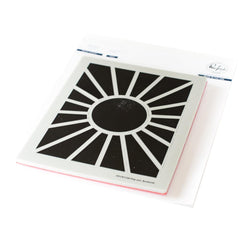 Pinkfresh Studio Cling Rubber Background Stamp Set A2 - Pop-Out Sunburst