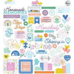 Pinkfresh Cardstock Die-Cuts - Let's Stay Home