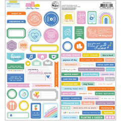 Pinkfresh Cardstock Stickers - Let's Stay Home