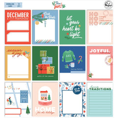 PinkFresh - Oh What Fun Journaling Cards 3in x 4in  12 pack