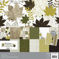 Kaisercraft Paper Pack 12in x 12in 12 pack - Fallen Leaves