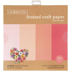 Lia Griffith Frosted Craft Tissue Paper 12in X12in  20 pack - Melon-Pinks