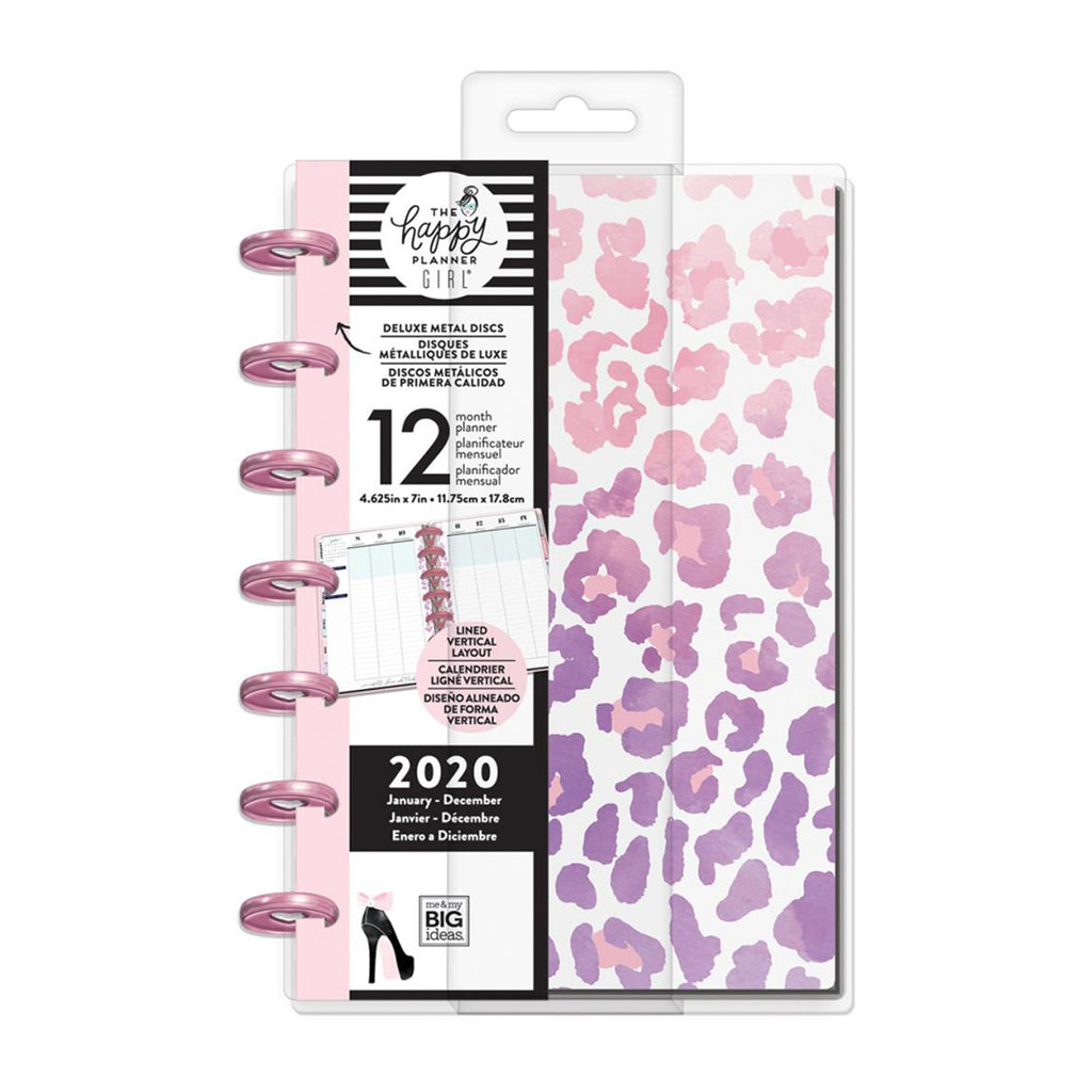 Me & My Big Ideas - Happy Planner 12-Month Dated Deluxe Mini Planner 7in x 4.625in - Glam Girl, Jan - Dec 2020