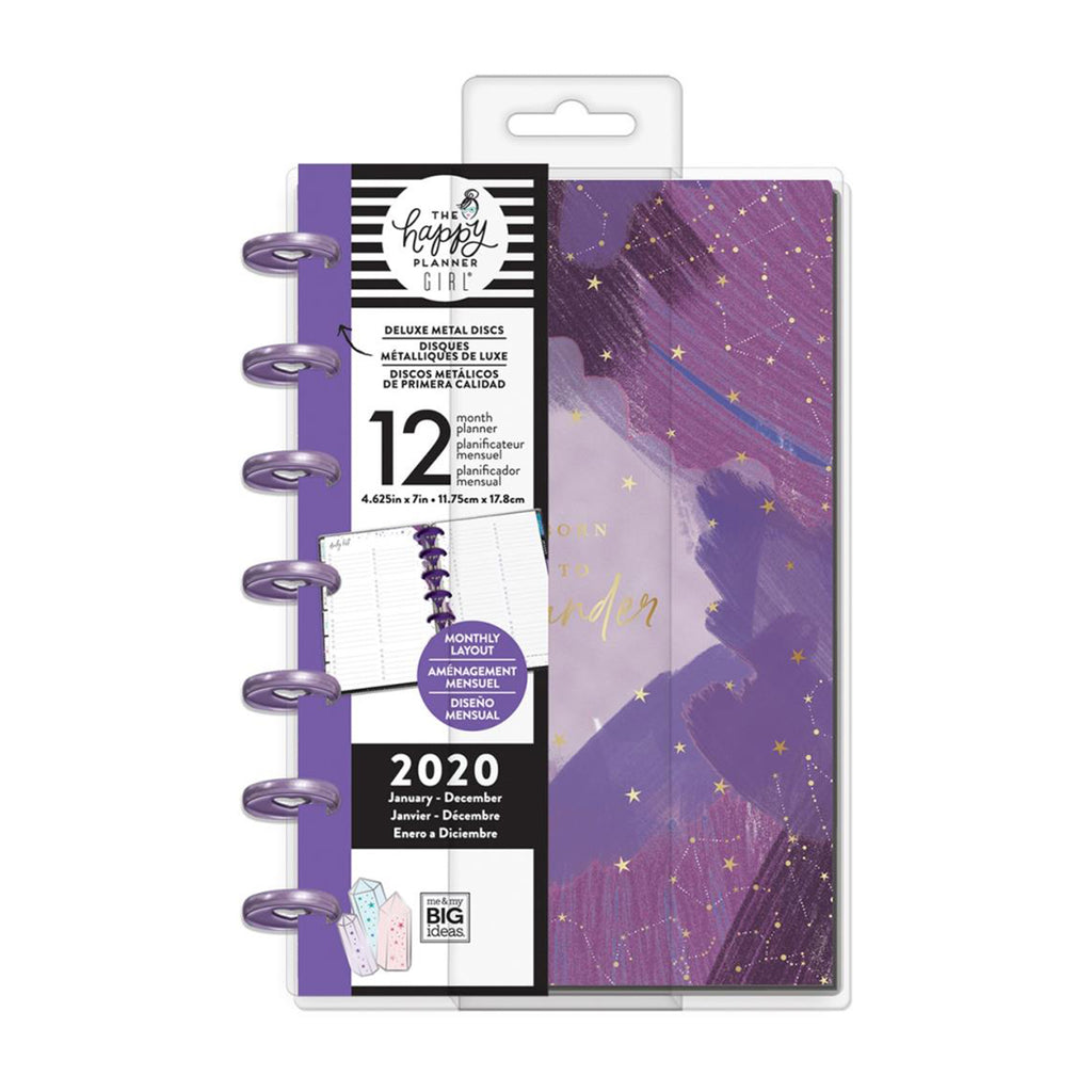 Me & My Big Ideas - Happy Planner 12-Month Dated Deluxe Mini Planner 7in x 4.625in - Stargazer, Jan - Dec 2020