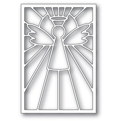 Poppystamps Die - Stained Glass Angel