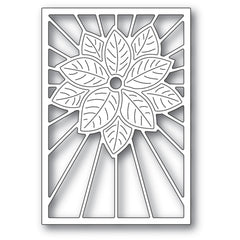 Poppystamps Die - Stained Glass Poinsettia