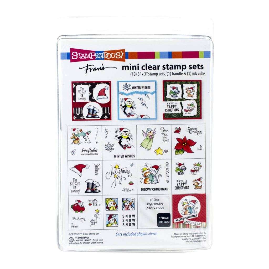 Stampendous Mini Clear Stamp Set Holiday