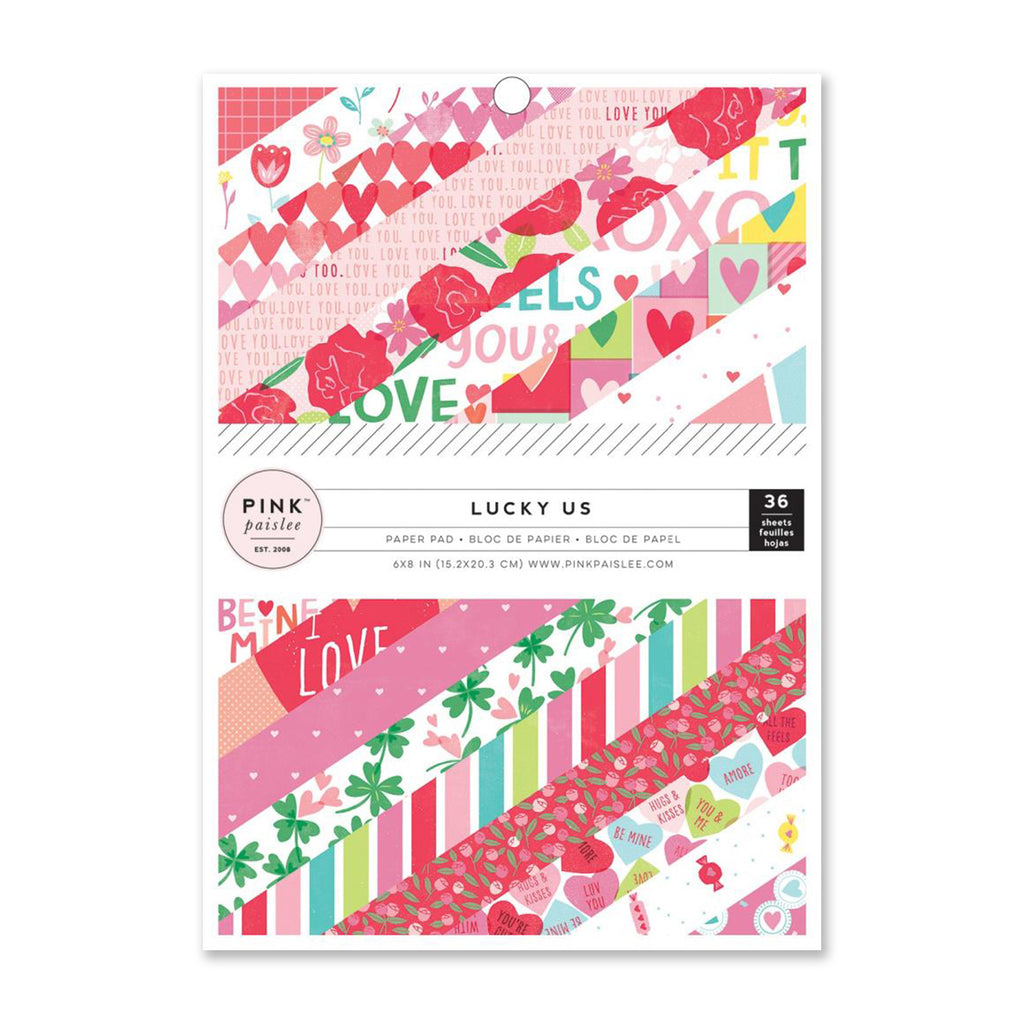 Pink Paislee - Lucky Us Collection - 6 x 8 Paper Pad