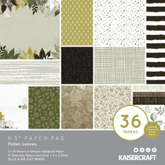 Kaisercraft Paper Pad 6.5in x 6.5in 40 pack  - Fallen Leaves