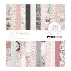Kaisercraft - Paper Pad 12in x 12in 48 pack - Floral Romance