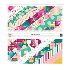 Pink Paislee Single-Sided Paper Pad 12in x 12in 36 pack  - And Many More with Foil Accents