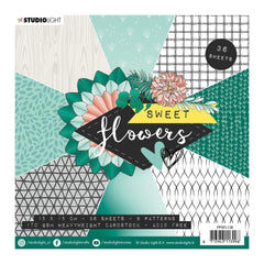 Studio Light - Paper Pad 6in x 6in  36 pack  NR. 138 - Sweet Flowers, 9 Designs/4 Each