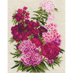 RIOLIS Counted Cross Stitch Kit 9.5in X 11.75in - Sweet William (14 count)