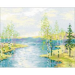 RIOLIS Counted Cross Stitch Kit 11.75in X 9.5in - Estuary (10 count)
