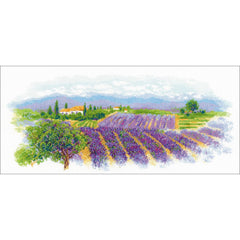 RIOLIS Counted Cross Stitch Kit 21.75in X 9.75in - Blooming Provence (14 count)