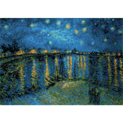 RIOLIS Counted Cross Stitch Kit 15in x 10.25in - Starry Night Over Rhone/Van Gogh (10 Ct)