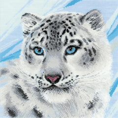 RIOLIS Counted Cross Stitch Kit 11.75in x 11.75in - Snow Leopard (14 counts)