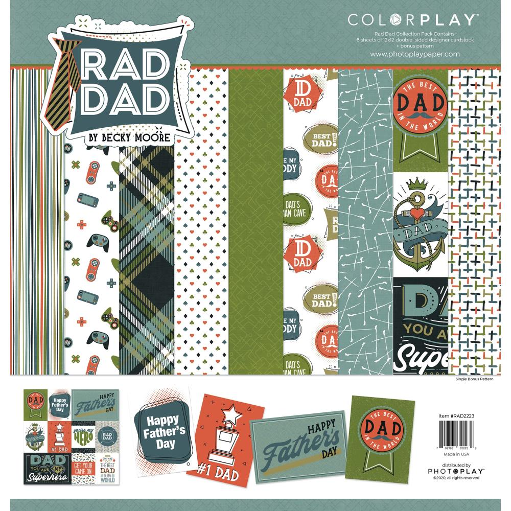ColorPlay Collection Pack 12in x 12in - Rad Dad, 4 Designs/2 Each +