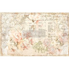 Re-Design Decoupage Decor Tissue Paper 19in x 30in 2 pack  - Floral Parchment