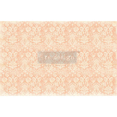 Re-Design Decoupage Decor Tissue Paper 19in x 30in 2 pack - Peach Damask