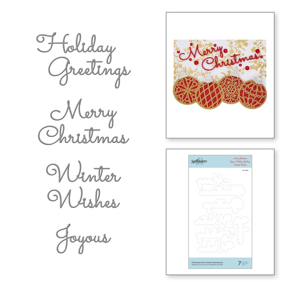 Spellbinders Etched Dies - Christmas Mix & Match Sentiments